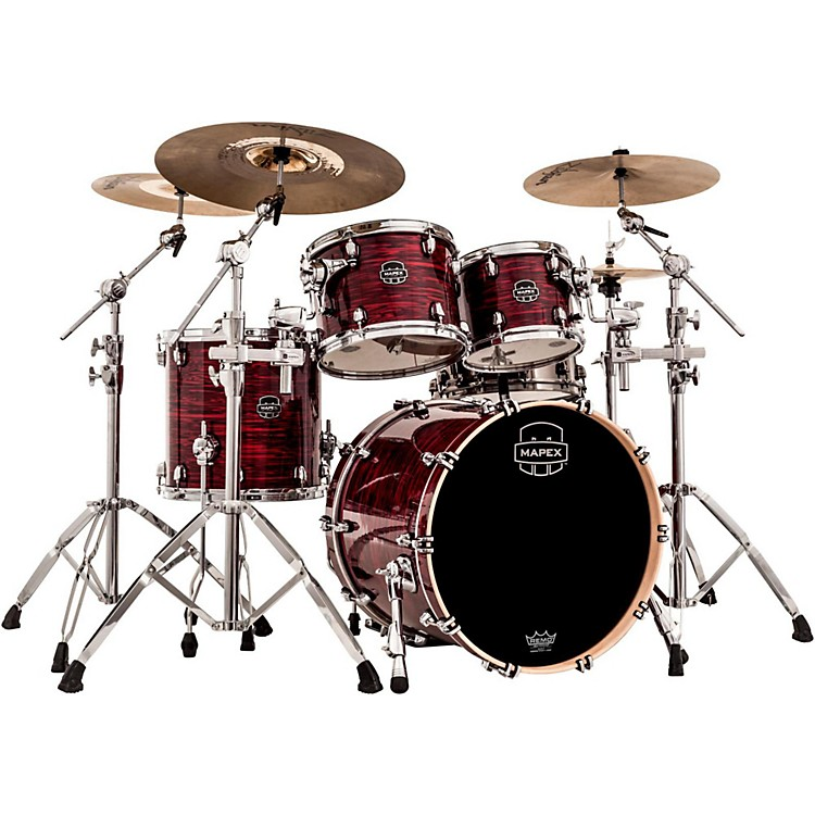 Mapex Saturn V 4-Piece Fusion Shell Pack Red Strata Pearl Custom Wrap