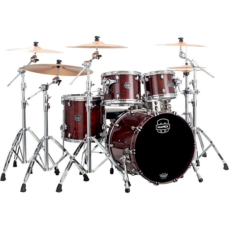 Mapex Saturn V 4-Piece Fusion Shell Pack Marine Spiral Custom Wrap