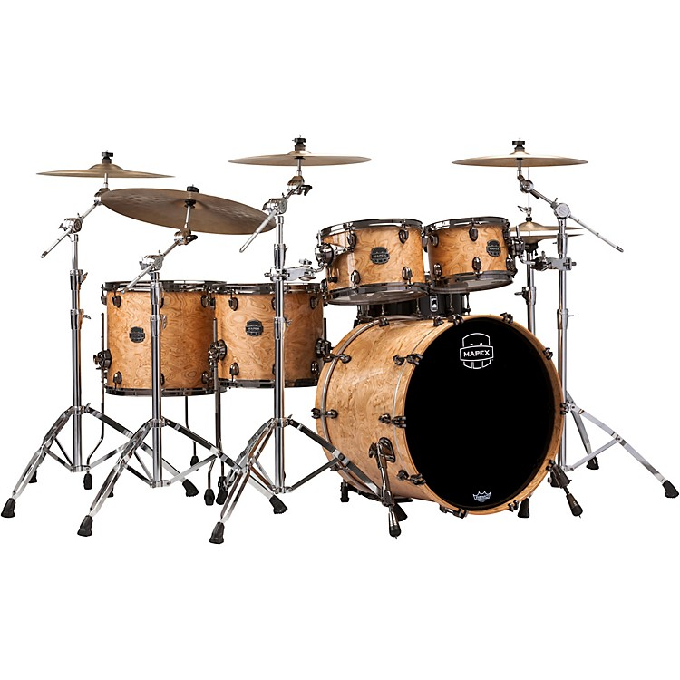 Mapex Saturn V Exotic Edition 5-Piece Studioease Shell Pack Natural Maple Burl