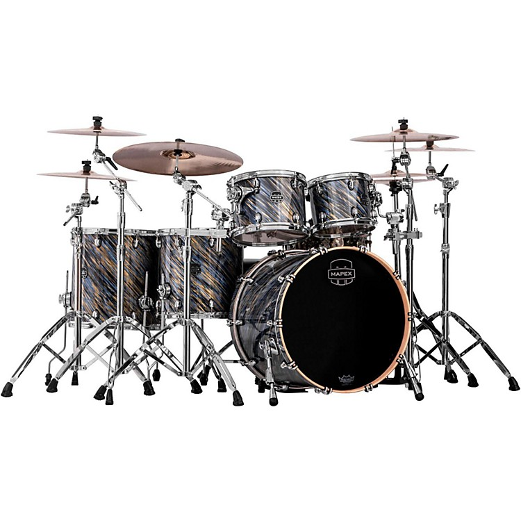 Mapex Saturn V MH 5-Piece Studioease Shell Pack Marine Spiral Custom Wrap