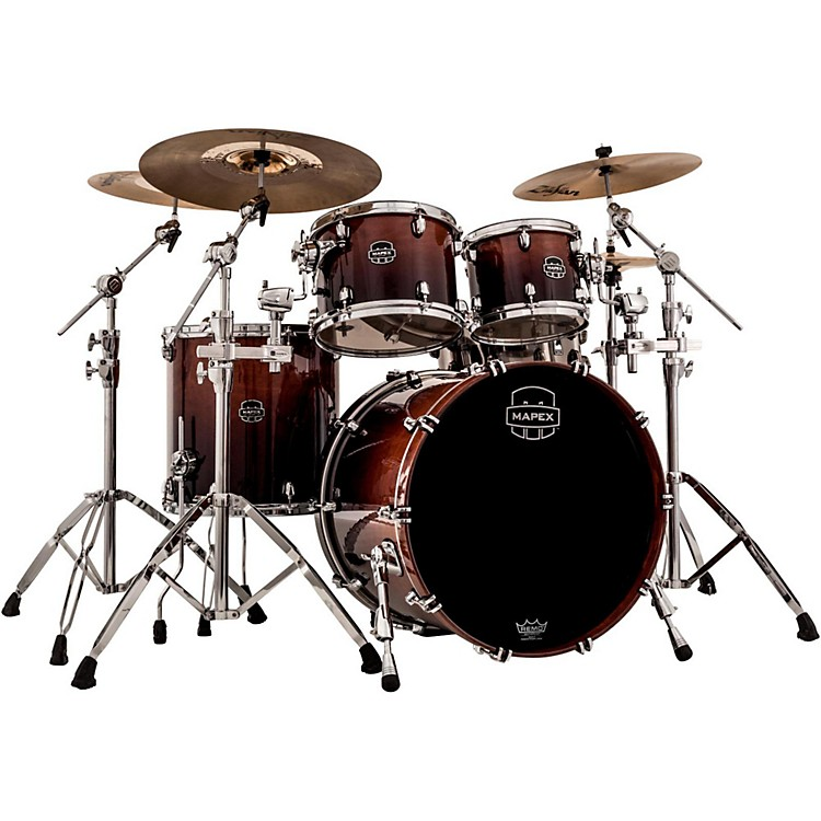 Mapex Saturn V Rock 4-Piece Shell Pack With Soniclear Edge Transparent Walnut
