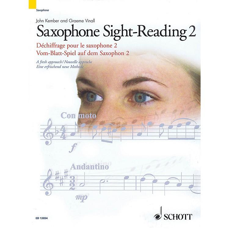 SchottSaxophone Sight-Reading 2 (A Fresh Approach) Schott Series Book