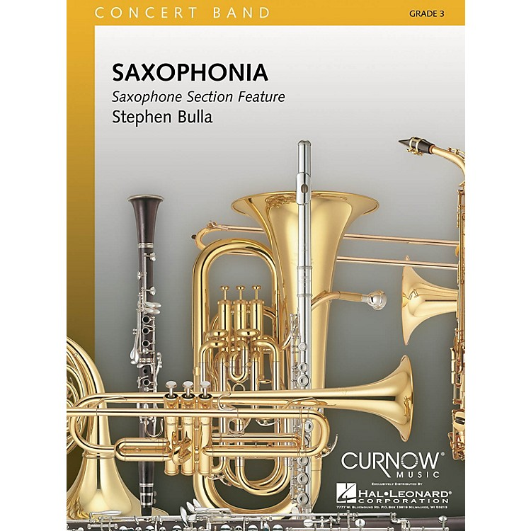 Hal LeonardSaxophonia (Grade 3 - Score and Parts) Concert Band Level 3 Composed by Stephen Bulla