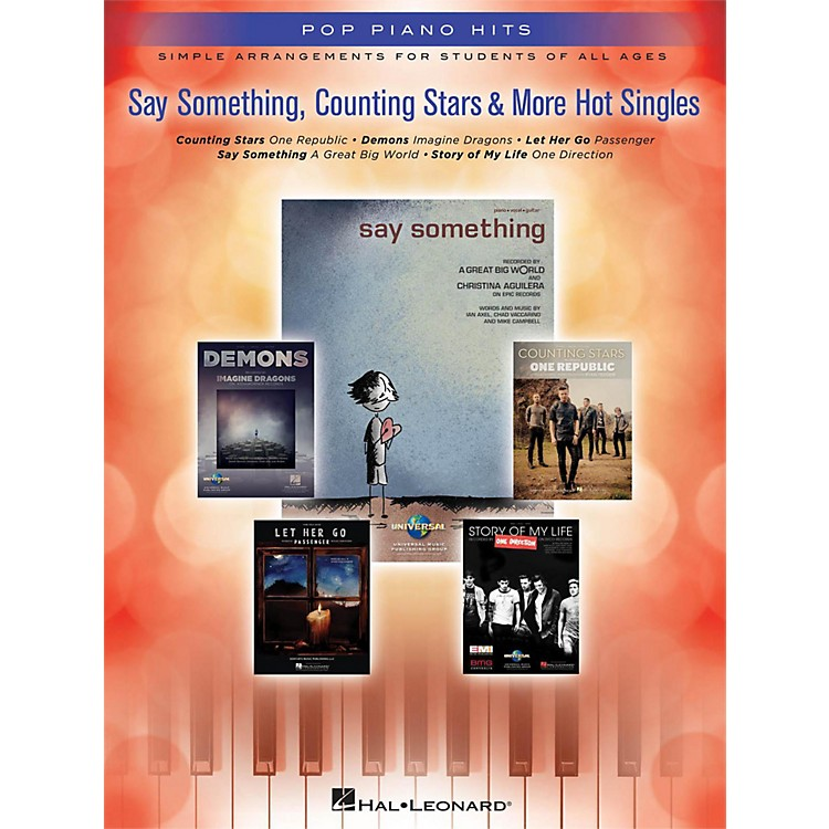 Hal Leonard Say Something, Counting Stars & More Hot Singles for Easy Piano