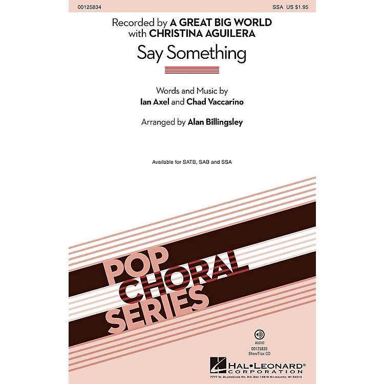 Hal LeonardSay Something SSA