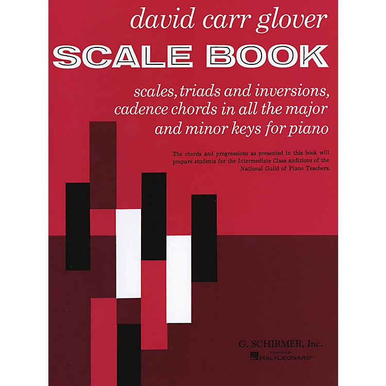 G. SchirmerScale Book (Piano Technique) Piano Method Series Composed by David Carr Glover