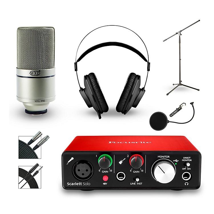 FocusriteScarlett Solo Recording Bundle with MXL Mic and AKG Headphones