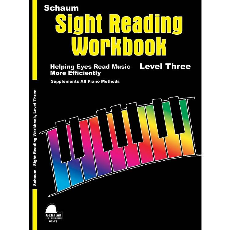 SCHAUMSchaum Sight Reading Workbook (Level 3) Educational Piano Book