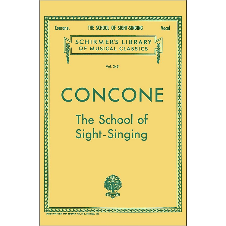 G. SchirmerSchool Of Sight-Singing - Vocal Practical Method for Young Beginners By Concone