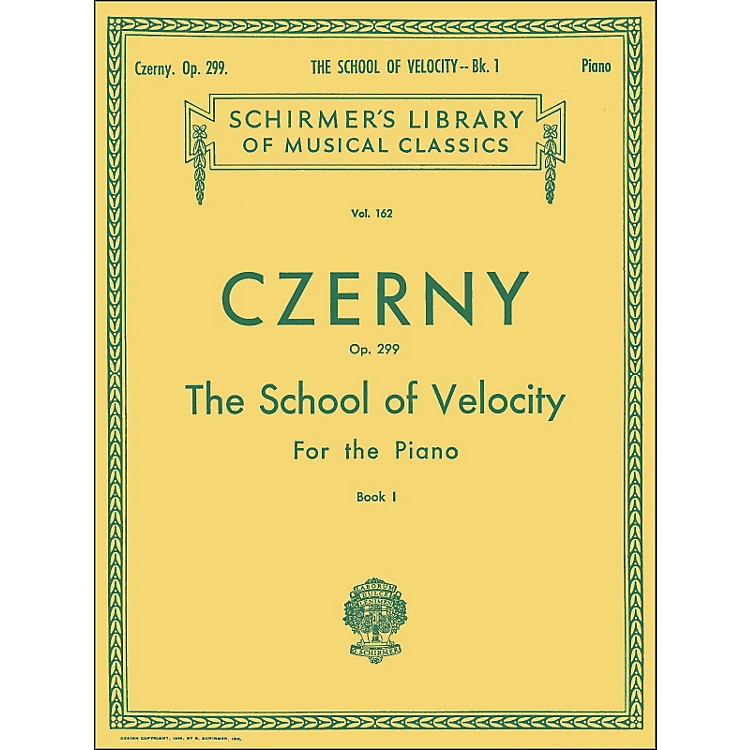 G. Schirmer School Of Velocity Op 299 Book 1 Piano By Czerny