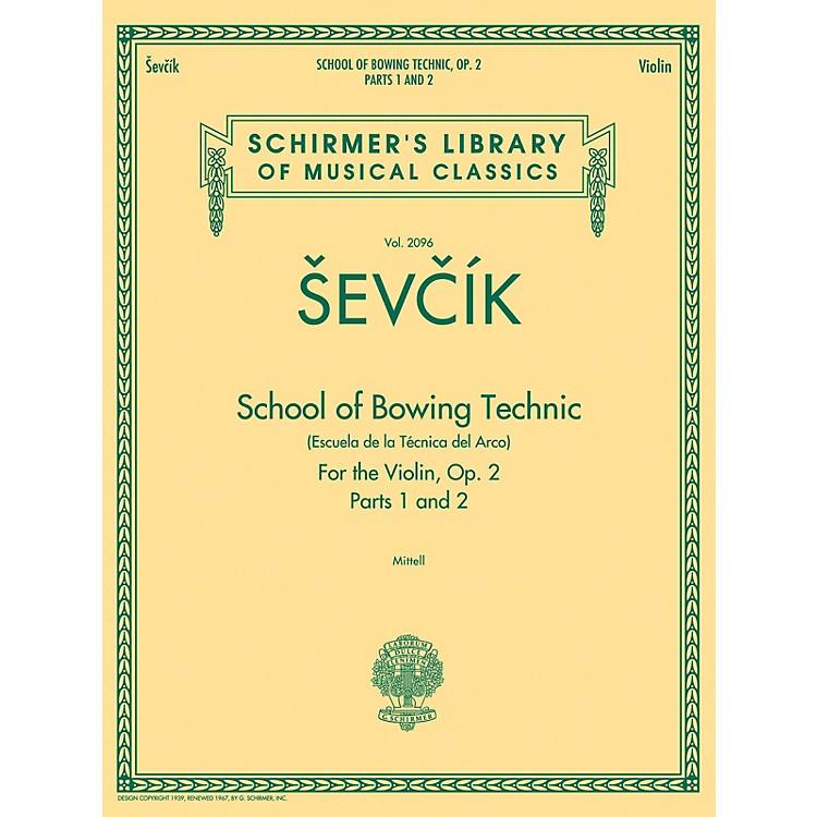 G. SchirmerSchool of Bowing Technics, Op. 2, Parts 1 & 2 String Method Series Softcover