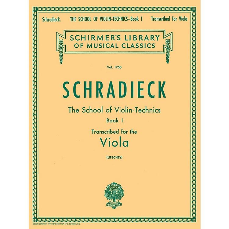 G. SchirmerSchool of Violin Technics, Op. 1 - Book 1 String Method Composed by Henry Schradieck Edited by Samuel Lifschey
