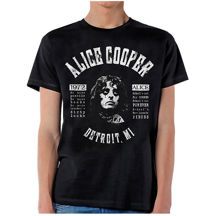 Alice Cooper School's Out Lyrics T-Shirt Medium