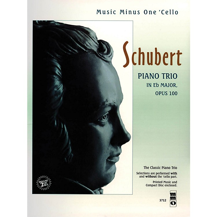 Music Minus OneSchubert - Piano Trio in E-flat Major, Op. 100 Music Minus One Series Softcover with CD by Franz Schubert
