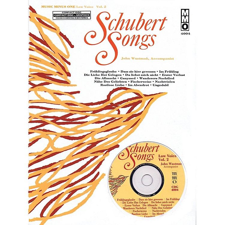 Music Minus OneSchubert Songs (Low Voice Vol. 2) Music Minus One Series Softcover with CD  by Franz Schubert
