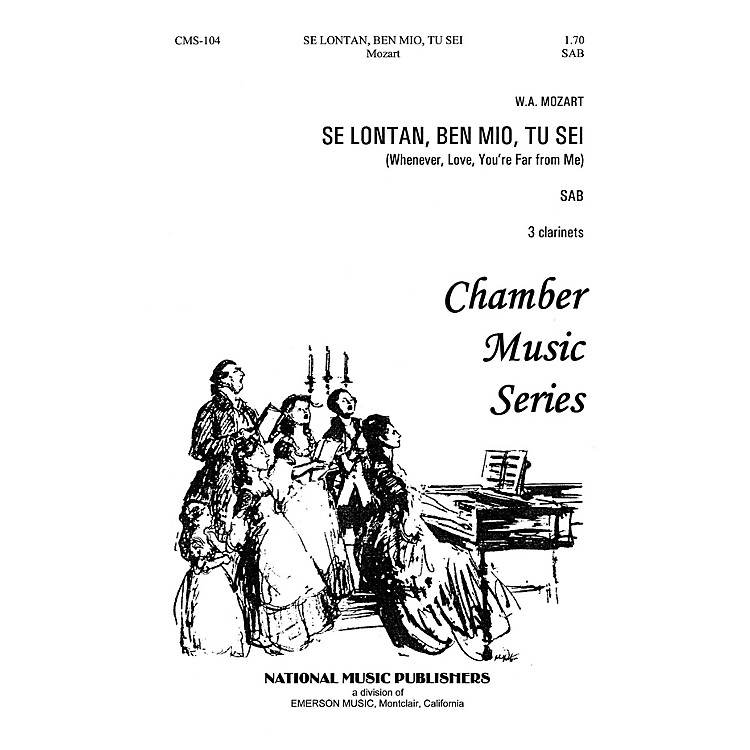 Hal LeonardSe Lontan Den Mio Tu Sei SAB composed by Robert Carl