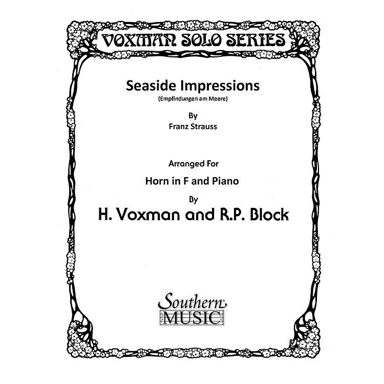 SouthernSeaside Impressions (Horn) Southern Music Series Arranged by Himie Voxman