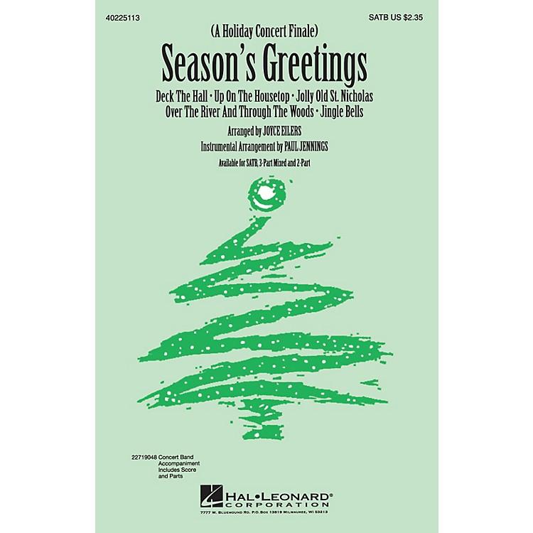 Hal LeonardSeason's Greetings (Medley) 3-Part Mixed Arranged by Joyce Eilers
