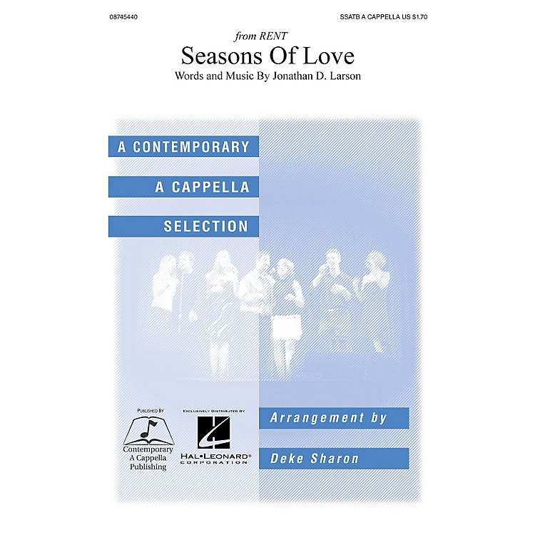 Hal Leonard Seasons of Love SSATB A Cappella arranged by Deke Sharon and Anne Raugh