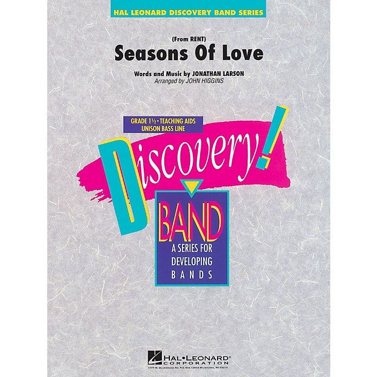 Hal Leonard Seasons of Love (from Rent) Concert Band Level 1 1/2 Arranged by John Higgins