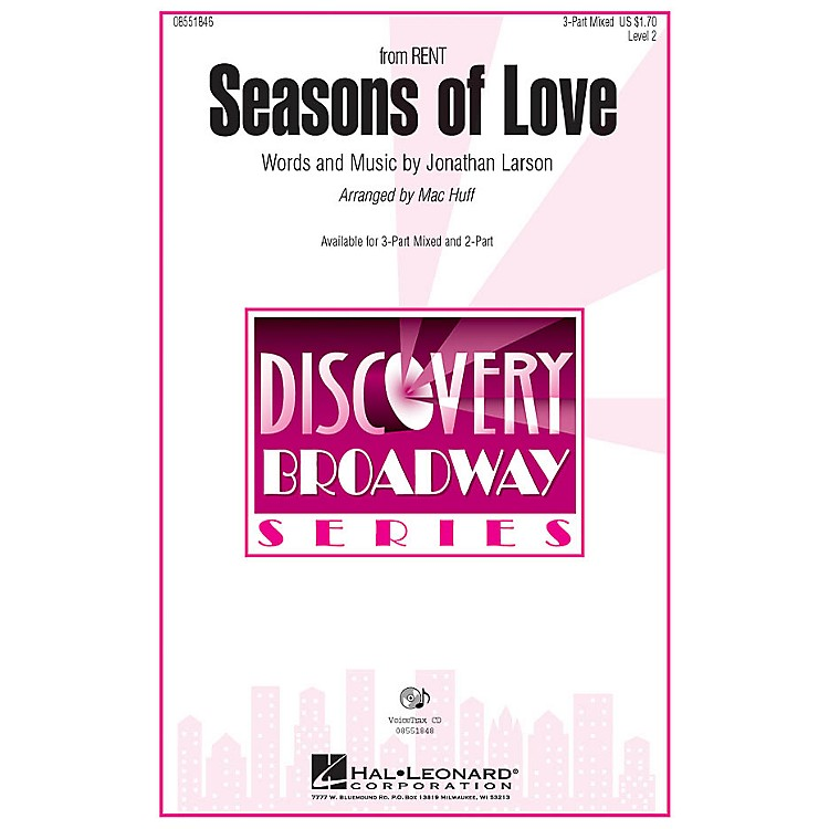 Hal LeonardSeasons of Love (from Rent) VoiceTrax CD Arranged by Mac Huff