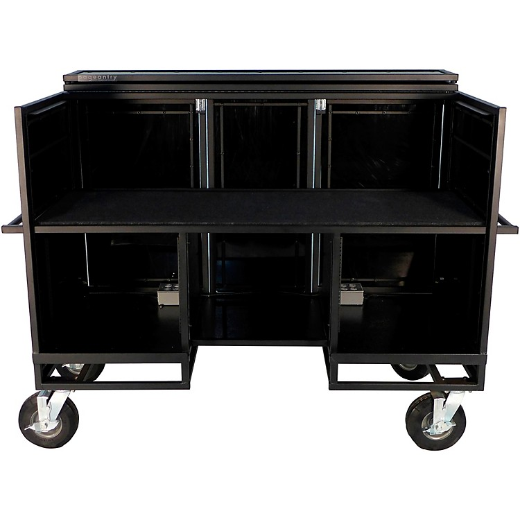 Pageantry InnovationsSeated Synth/Mixer Combo Cart Stealth Series Upgrade w/ Bi-Fold Top Cover