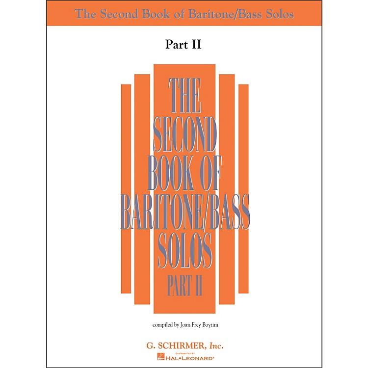 G. SchirmerSecond Book Of Baritone  /Bass Solos Part 2 Book Only