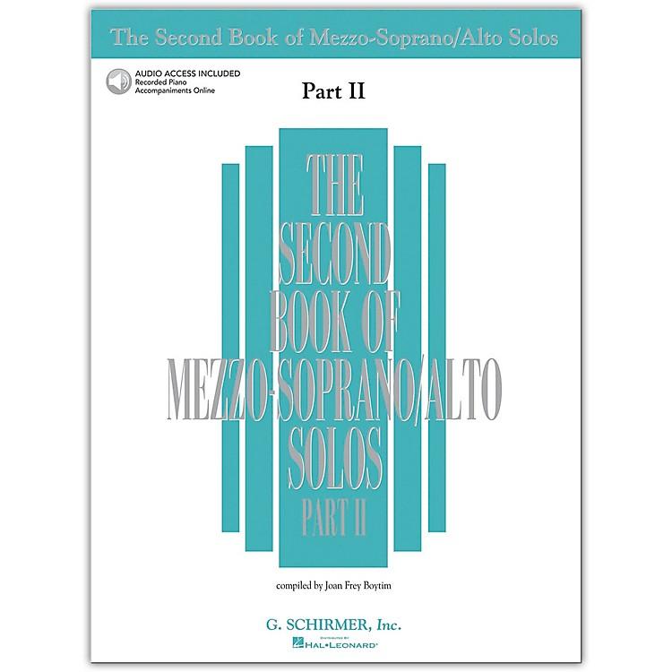 Hal LeonardSecond Book/Online Audio Of Mezzo-Soprano / Alto Solos Part 2 Book/Online Audio