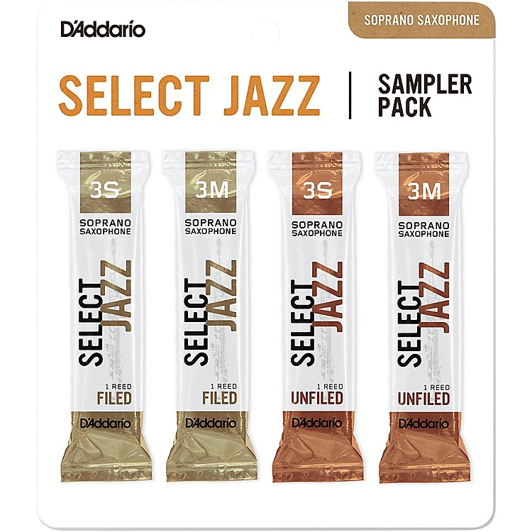 D'Addario WoodwindsSelect Jazz Soprano Saxophone Reed Sampler Pack3