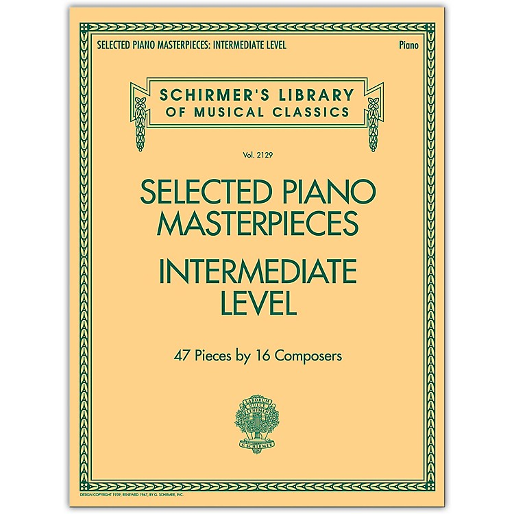 G. SchirmerSelected Piano Masterpieces - Intermediate Level Piano Collection Series Softcover