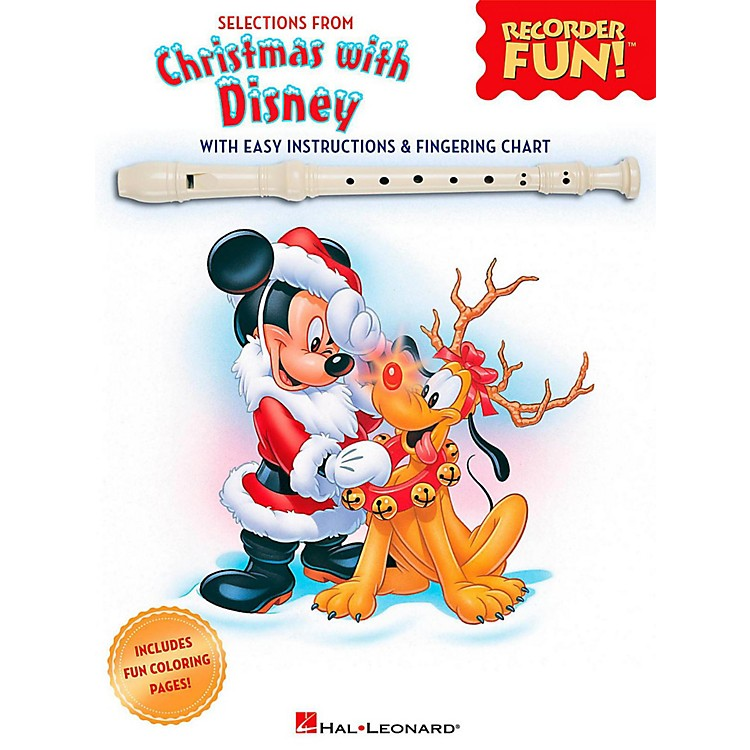 Hal LeonardSelections From Christmas With Disney - Recorder Fun! Songbook