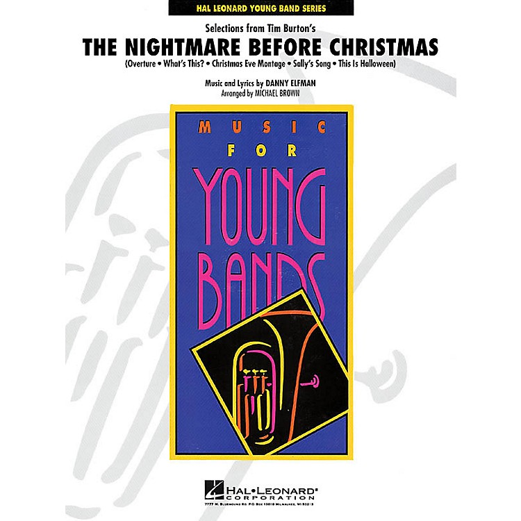 Hal LeonardSelections from The Nightmare Before Christmas - Concert Band Level 3 arranged by Michael Brown