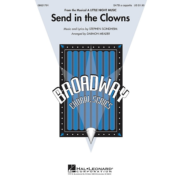 Hal Leonard Send in the Clowns (from A Little Night Music) SATB a cappella arranged by Darmon Meader