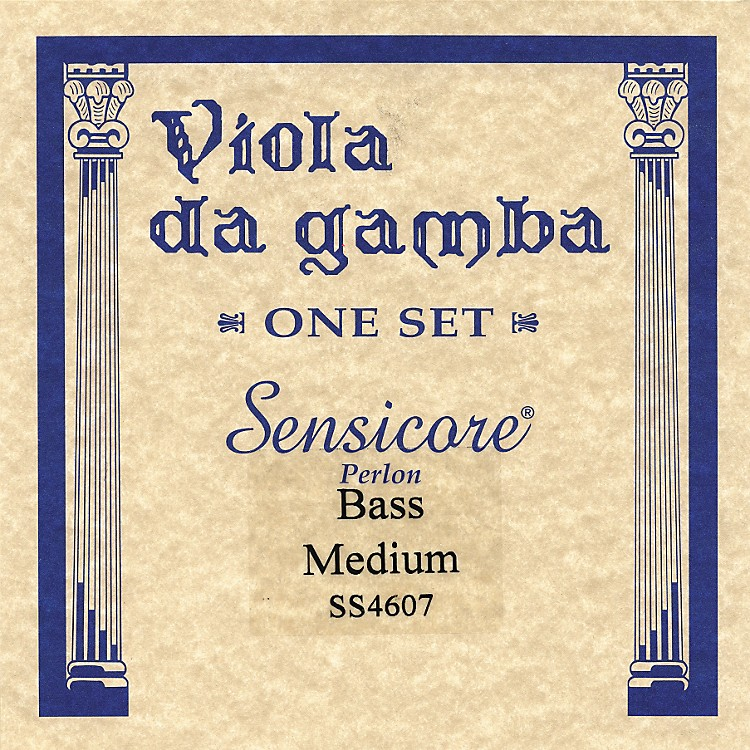 Super Sensitive Sensicore Bass Viola de Gamba Strings A7, Steel/Synthetic