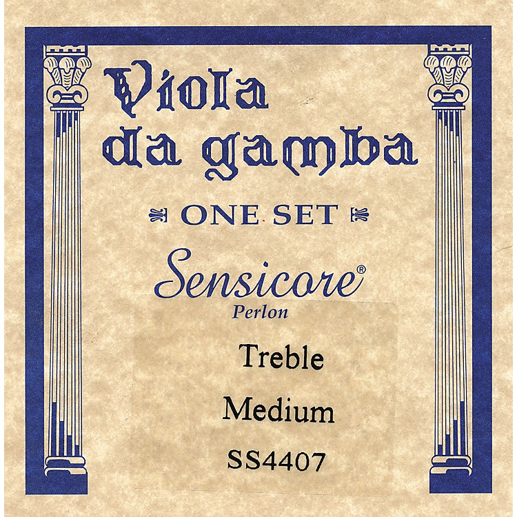 Super Sensitive Sensicore Treble Gamba Strings Set, Medium