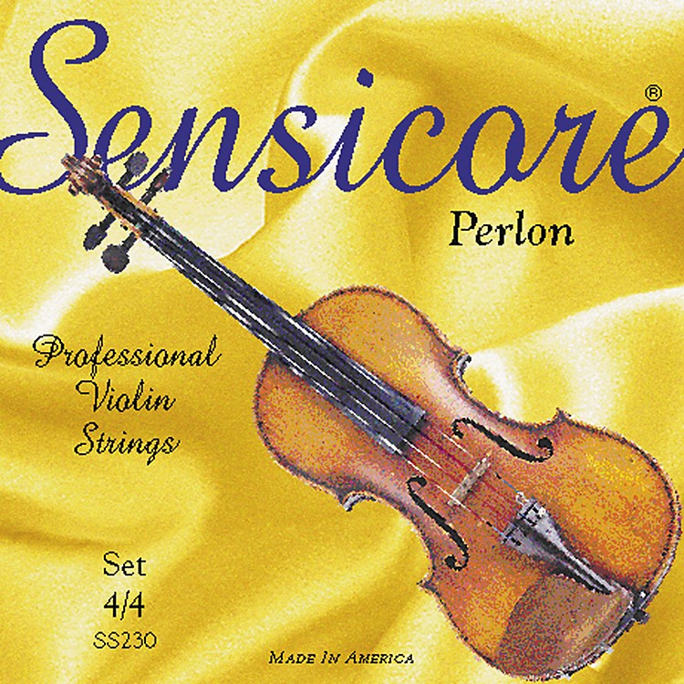 Super Sensitive Sensicore Violin Strings E, Steel, Medium, Ball 4/4 Size
