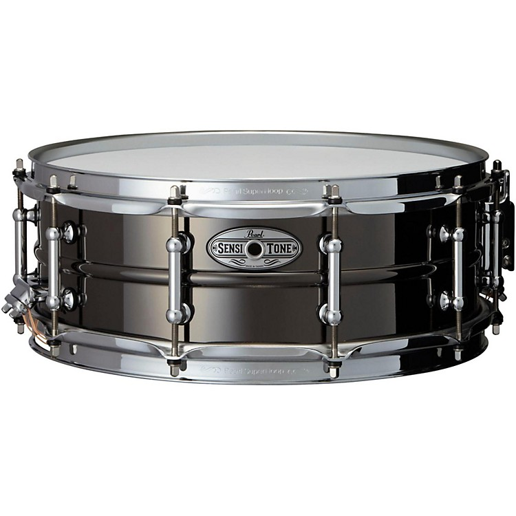 Pearl Sensitone Beaded Brass Snare Drum 14 x 5 in. Black
