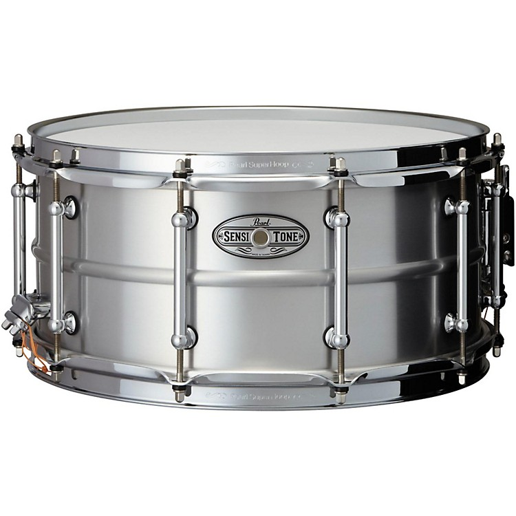 Pearl Sensitone Beaded Seamless Aluminum Snare Drum 14 x 6.5 in.