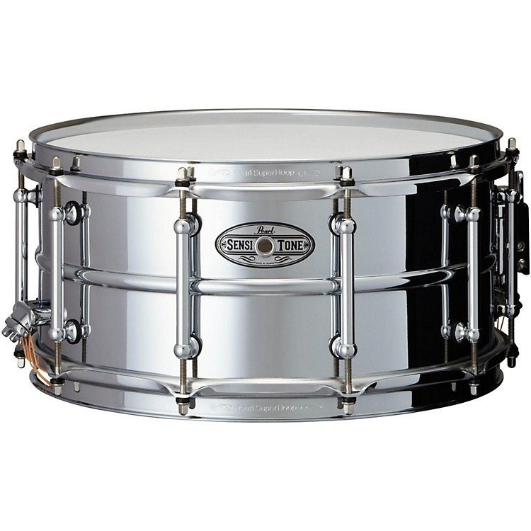 Pearl Sensitone Beaded Steel Snare Drum 14 x 6.5 in.