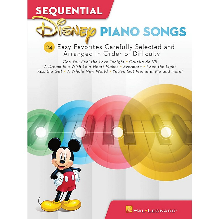 Hal LeonardSequential Disney Piano Songs - 24 Easy Favorites Carefully Selected and Arranged in Order of Difficulty