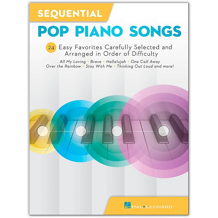 Hal LeonardSequential Pop Piano Songs - 24 Easy Favorites Carefully Selected and Arranged in Order of Difficulty Easy Piano Songbook