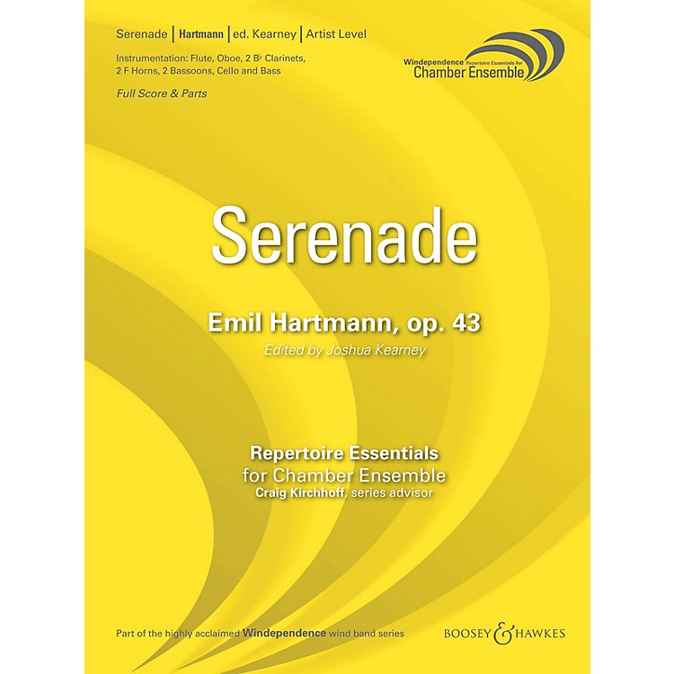 Boosey and HawkesSerenade, Op. 43 (Score Only) Concert Band Level 5 Composed by Emil Hartmann