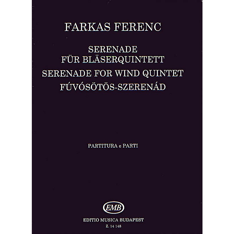 Editio Musica Budapest Serenade (Woodwind Quintet) EMB Series by Ferenc Farkas