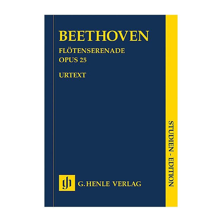 G. Henle VerlagSerenade for Flute, Violin and Viola in D Major, Op. 25 Henle Music Folios by Ludwig van Beethoven