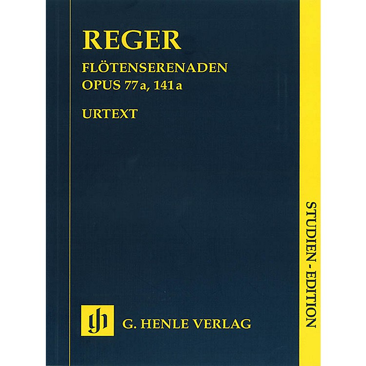 G. Henle VerlagSerenades for Flute, Violin, and Viola Op. 77a and Op. 141a Henle Study Scores Softcover by Max Reger