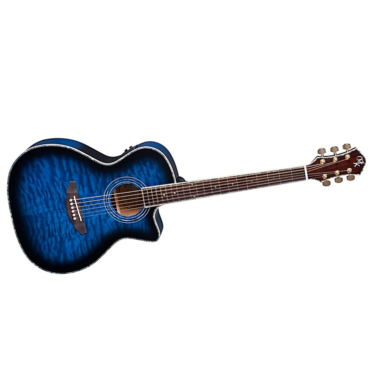 Michael KellySeries 15 Arena Cutaway Acoustic-Electric GuitarTransparent Blue