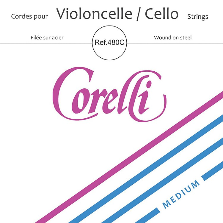 CorelliSeries Cello String Set4/4 SizeMedium Ball End