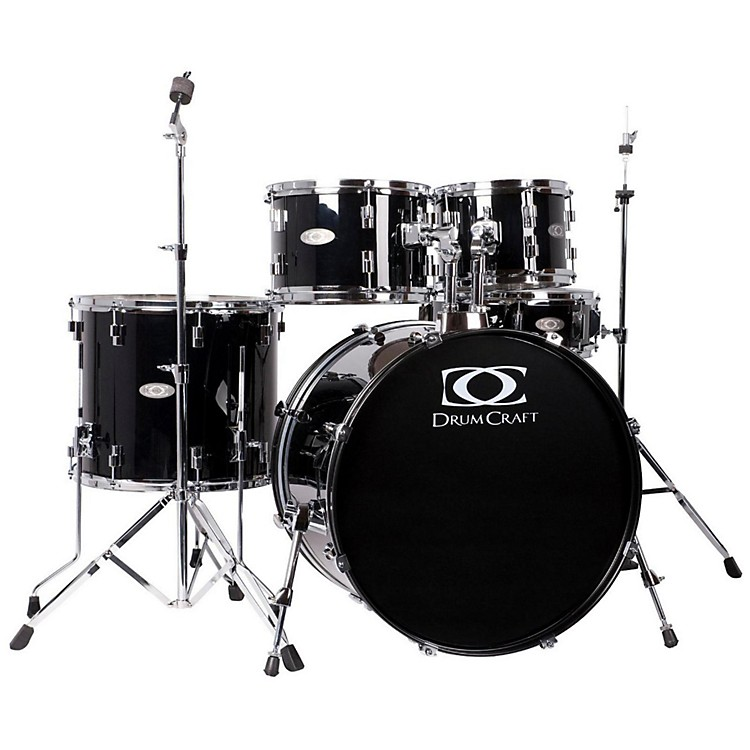 DrumCraft Series One 5-Piece Fusion Drum Set Snow White