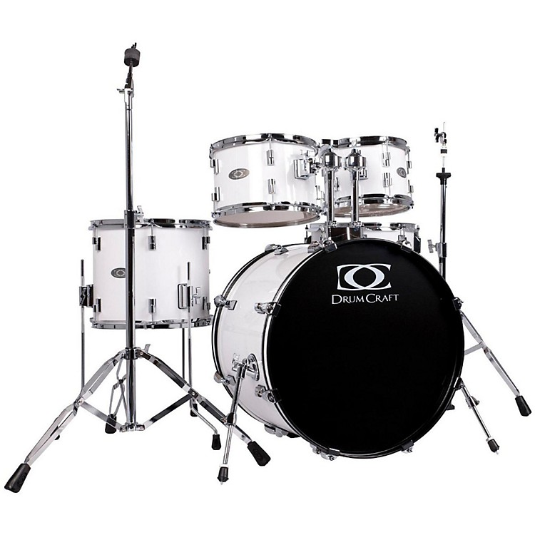 DrumCraftSeries Three 5-Piece Fusion DrumsetSnow White