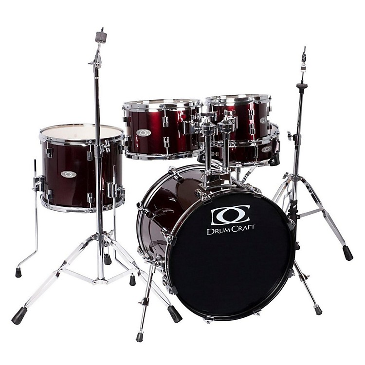DrumCraft Series Three 5-Piece Fusion Drumset Wine Red